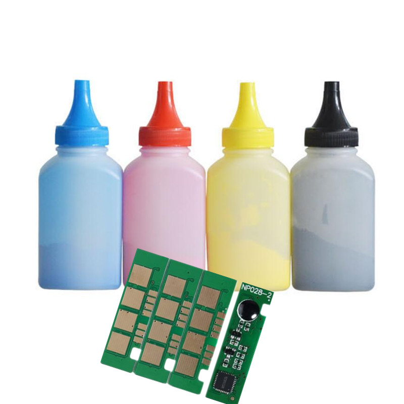 CLT 406 Perfect match 4 color toner powder and chips For CLP 360 365 365W 366W CLX3305 3305W 3306FN Laser Printer