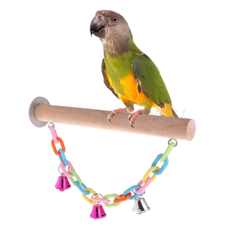 Parrot Perch Bird Stand Holder Swing Toys Puzzle Chew Bite Platform Paw Grinding