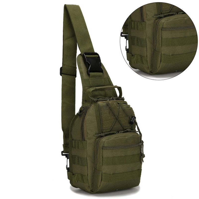 Climbing Bags Sports & Entertainment Military Tactical Chest Pack Fly Equipment Nylon Wading Chest Pack Cross Body Sling Single Shoulder Bag