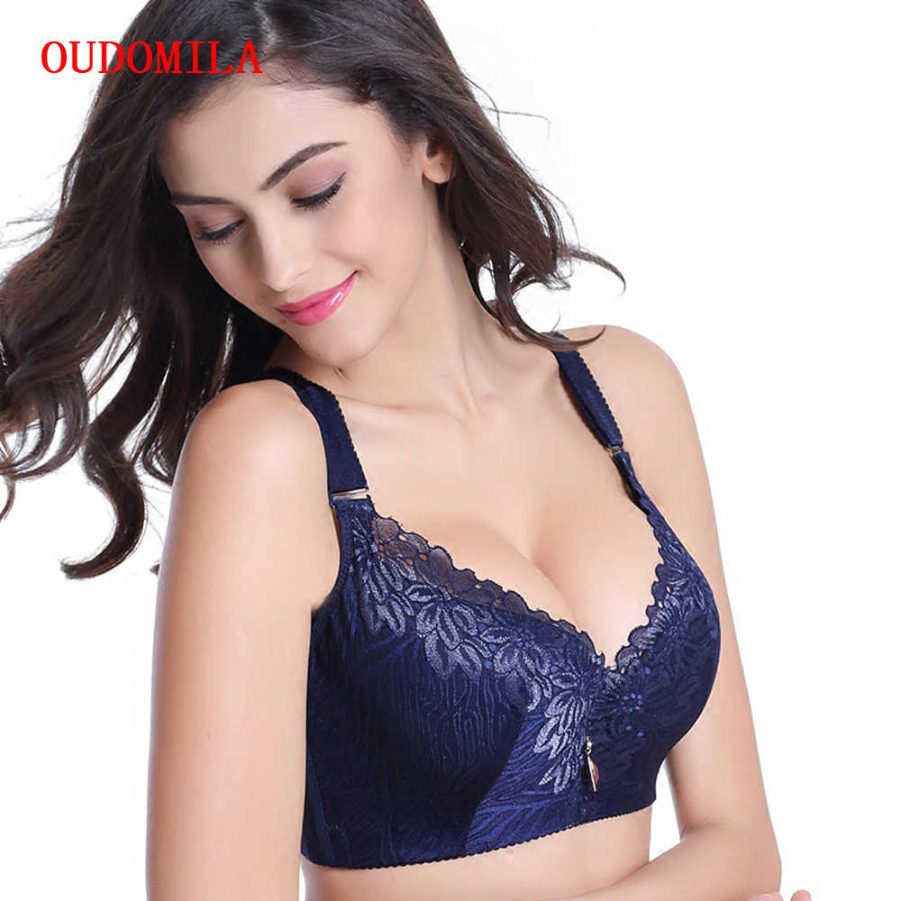 486cf35fb181 ... OUDOMILAI Hot Push Up Bra Big Size Chest Sexy Deep V Brassiere Lace  Bralette large size ...