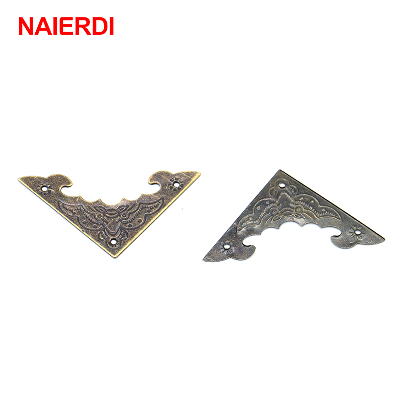 naierdi 20pcs decoration corner bracket antique jewelry wooden box foot leg corner protector
