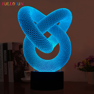 Image 2 - FS 2876  MODERN NEW GENERATION AMAZING 3D LED LAMP TABLE   DESK or NIGHT LIGHT 3DLAMP