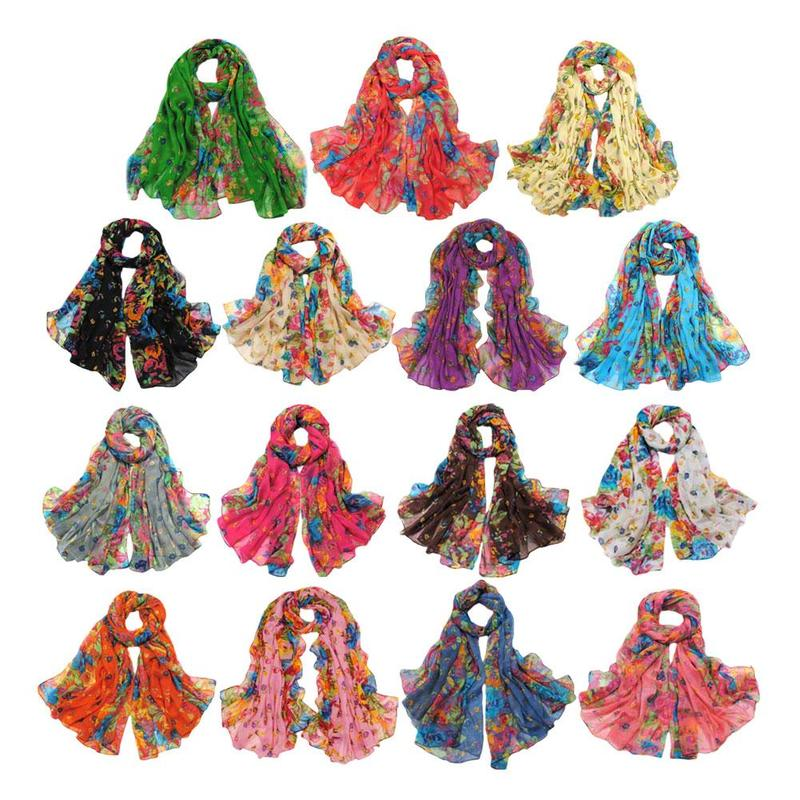 1pc New Small Floral Factory Wholesale Ladies Flat Scarf Air Conditioning Shawl Beads Jersey Hijab Polyester Cotton Scarf