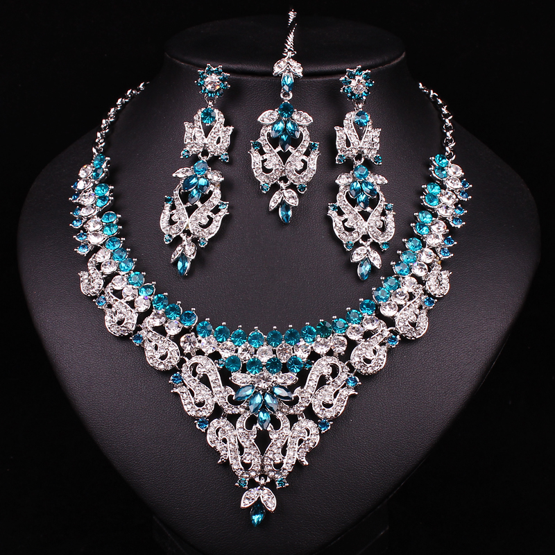 Buy New Indian Bridal Jewelry Set Crystal