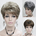Very Short Hairstyles For Older Women synthetic Straight hair wig Hairpiece free shipping