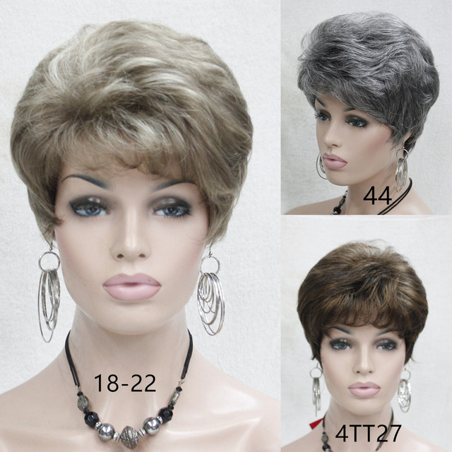 Very Short Hairstyles For Older Women synthetic Straight hair wig ...