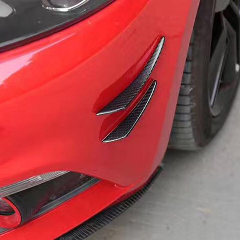 4 шт. углерода Волокно автомобиля спереди Air Vent украшения сбоку Fender отделки для bmw audi volkswagen Mercedes-Benz