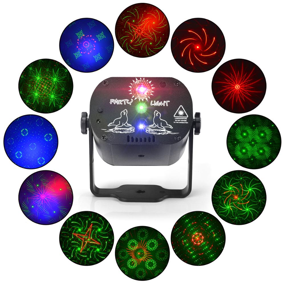 NEW 60patterns RGB LED Laser light show for Christmas Disco Party perfect home party light birthday atmosphere light in Stage Lighting Effect from Lights Lighting