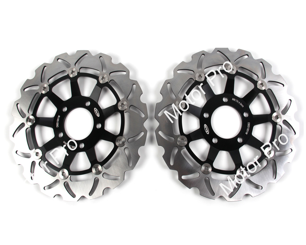2 PCS CNC FOR SUZUKI SV 650/S DER 1999 2000 2001 2002 SV 650/S IZO Floating Motorcycle Front Brake Disc brake disk Rotor keoghs motorcycle brake disc brake rotor floating 260mm 82mm diameter cnc for yamaha scooter bws cygnus front disc replace