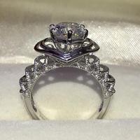 2 карат Роскошные в форме сердца женский кольцо предложение свадебные подарки дамы ювелирные изделия (LMYS)