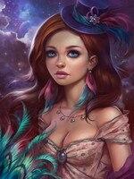 Girl Beautiful Diamond Embroidered Figure 5d Diy Diamond Painting Paintings By Numbers Diamond Embroidery Diamond Picture