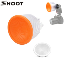 SHOOT Adjustable Lambancy Dome Flash Diffuser for Canon 580EX 600EX Nikon SB900 SB910 Sony F58 HVL-F43AM Flash Speedlite Light o flash ring flash adapter for canon 580ex 580ex ii with 1d 1ds 1v