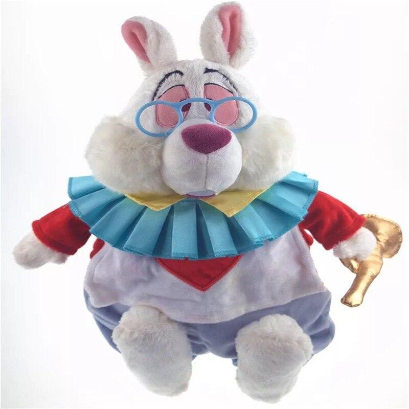 Livraison gratuite 1 pièces/lot 38 cm Alice au Pays Des Merveilles en peluche lapin poupée collecteur de jouet Enfants jouets De Noël cadeau