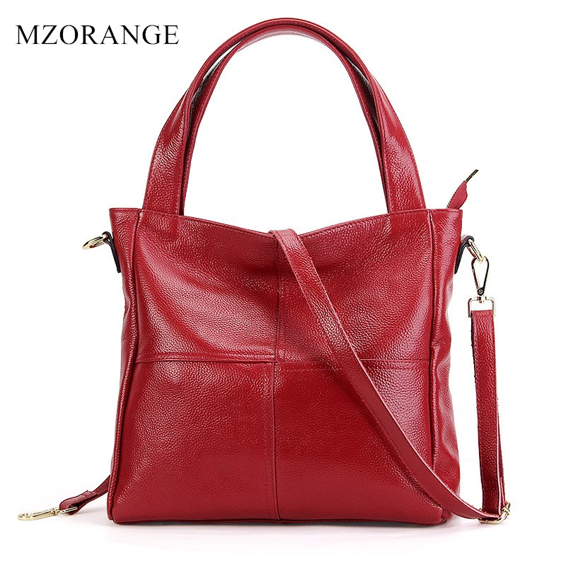 2018 Casual Large Tote Women'S Genuine Leather Shoulder Bag 100% Natural Cowhide Cross-body Bags Brand handbag for Ladies [whorse] brand high quality women genuine leather shoulder bags cowhide ladies casual tote bag large capacity wa5054 7