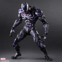 Play Arts Spider Man Spider Venom Black Spider PA Secret Wars Peter Parker 26cm PVC Action Figure Doll Toys Kids Gifture Toys