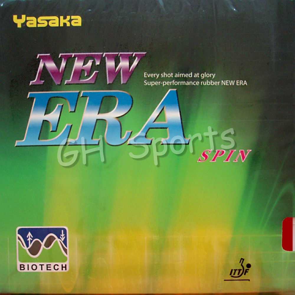 Yasaka NEW ERA SPIN BIOTECH Pips-In Table Tennis PingPong Rubber With Sponge NO ITTF with Sponge racquet sports