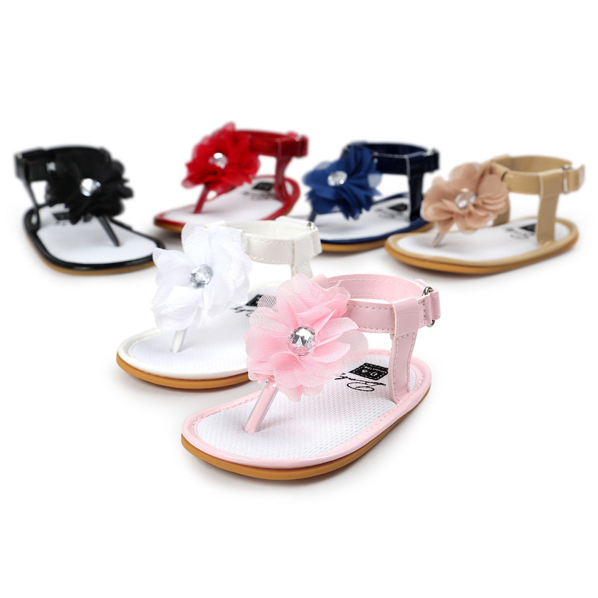 Cute Newborn Baby Girls Floral Sneakers Bow Non-slip Crib Shoes Soft Sole Prewalker 0-18M