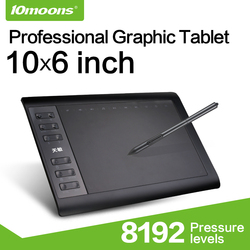 10moons 10 дюймов 8192 уровней Цифровые планшеты рисунок Планшеты подпись ручка Планшеты профессиональный графический Планшеты