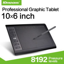 10moons Levels Pen-Tablet Digital Professional 8192 10--6inch Graphic Charge No-Need