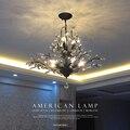 2016 Creative Art Deco Pendant lamp Modern Crystal Chandelier lighting Tree Leaf for Bedroom kids LED Lamps Fixtures 110V/220V
