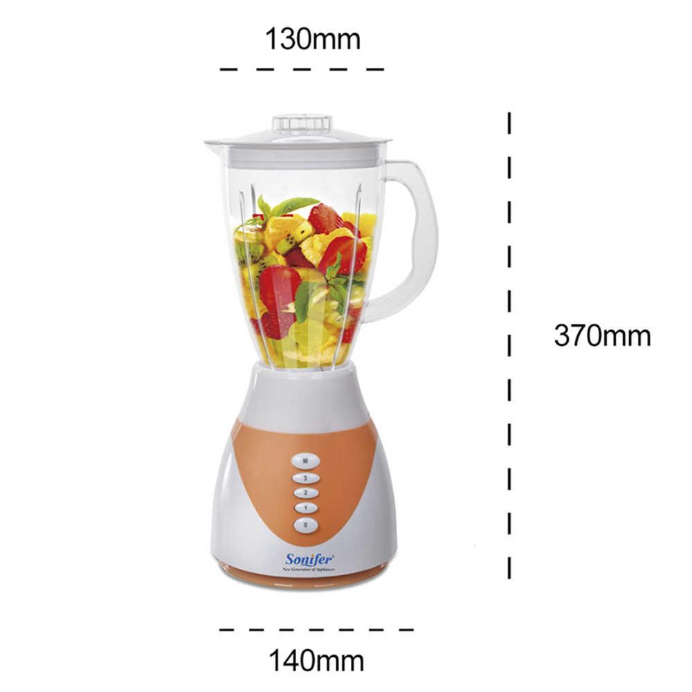300 W Colorido Multifuncional liquidificador elétrico misturador da cozinha 4 velocidades pé liquidificador Moedor de Carne vegetal mistura Sonifer