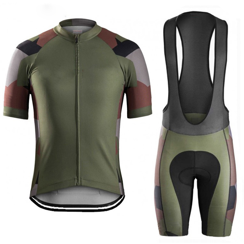 3faae4f24 2019 Man Camouflage cycling jersey Sleeve cycling clothing Sleeve Riding  clothes bike wear gel pad