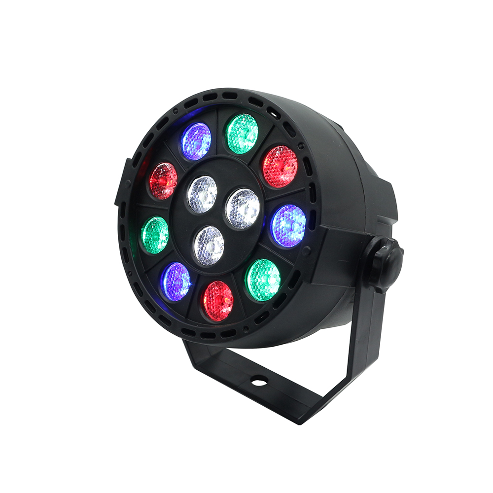 12W RGBW LED Stage Par Light Disco Ball Lamp Effect Magic Party Club Lights for Laser Projector Party Club DJ House Disco 2pcs dj disco par led 54x3w stage light dmx strobe flat luces discoteca party lights laser rgbw luz de projector lumiere control