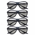 4pcs Freeship Replacement AG-F310 3D Glasses Polarized Passive Glasses For LG TCL Samsung SONY Konka reald 3D Cinema currency