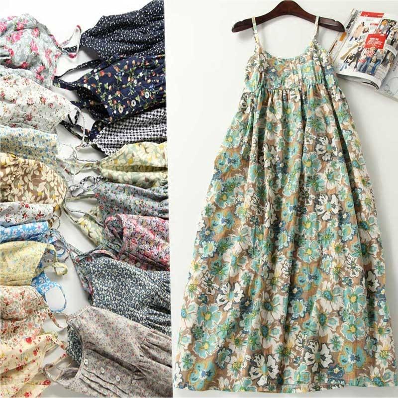 Nueva llegada 2017 summer dress for ladies floral verde celosía bohemia dress ch