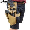 Military Leg Holster for MP7 with Magazine Pouch SWAT Cordura HK MP7 Leg Holster Black/TAN