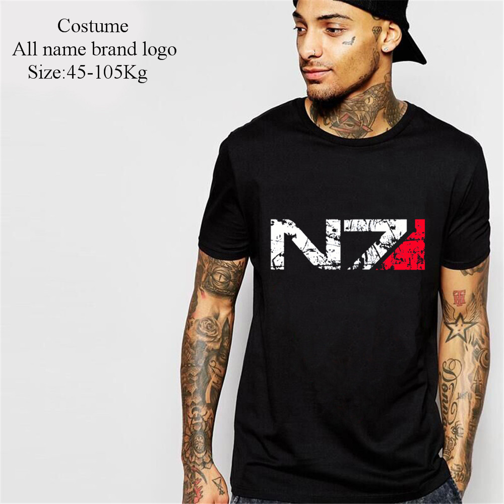 Mass Effect N7 special forces Vintage T-Shirt Men 2018 Kanye West camisa masculina kpop dota 2 jersey harajuku undertale tshirt