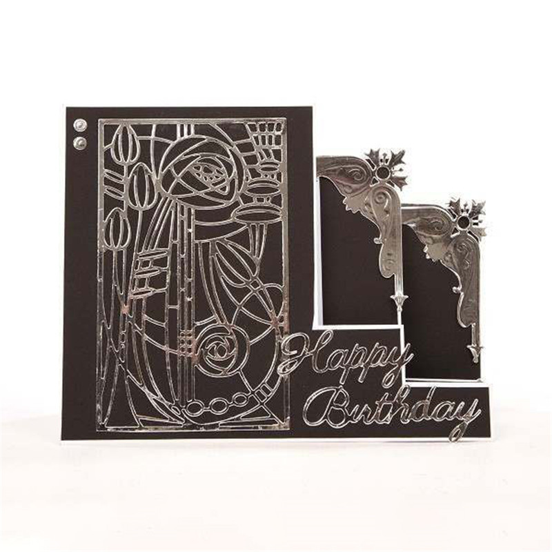 a25aa6f30ef29 GJCrafts Flower Background Metal Cutting Dies New 2019 for Craft Dies  Scrapbooking Album Embossing Paper Die Cut Decoration