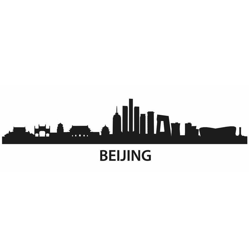 DCTAL BEIJING City Decal Landmark Skyline Wall Stickers