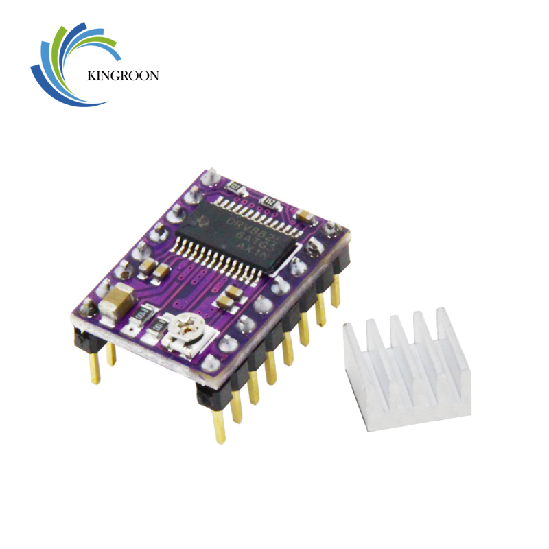 5pcs/lot New Stepstick Drv8825 For RAMPS Stepper Motor Driver HeatSink Part 3D Printers Parts Heat Sink 4 Layer PCB Purple Board цена