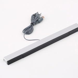 Image 4 - 6 Ft 1.8m AV Composite RCA Cable+Black Wired Sensor Bar For Nintendo Wii New