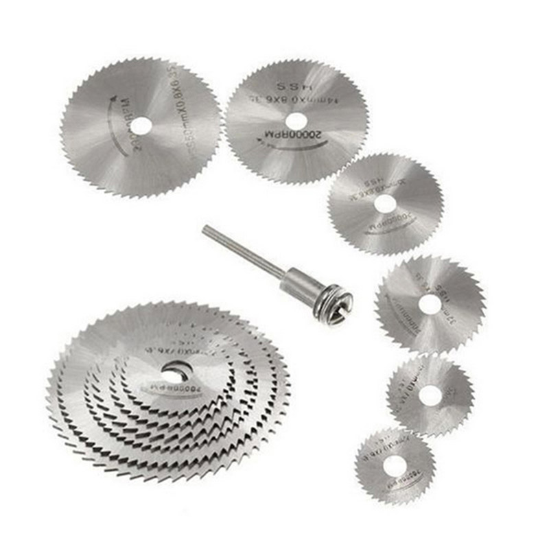 HSS 22-50mm Circular Saw Blades Metal Wood Cutting Blades Disc Woodworking Grinding Sets For Dremel Rotary Tool Cutter Accessory