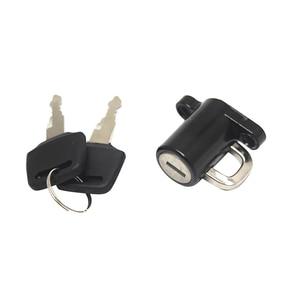 Image 4 - 1 Uds cerradura para casco de motocicleta Universal Bloqueo de casco gancho colgante gancho de bloqueo de casco con 2 Juego de llaves negro