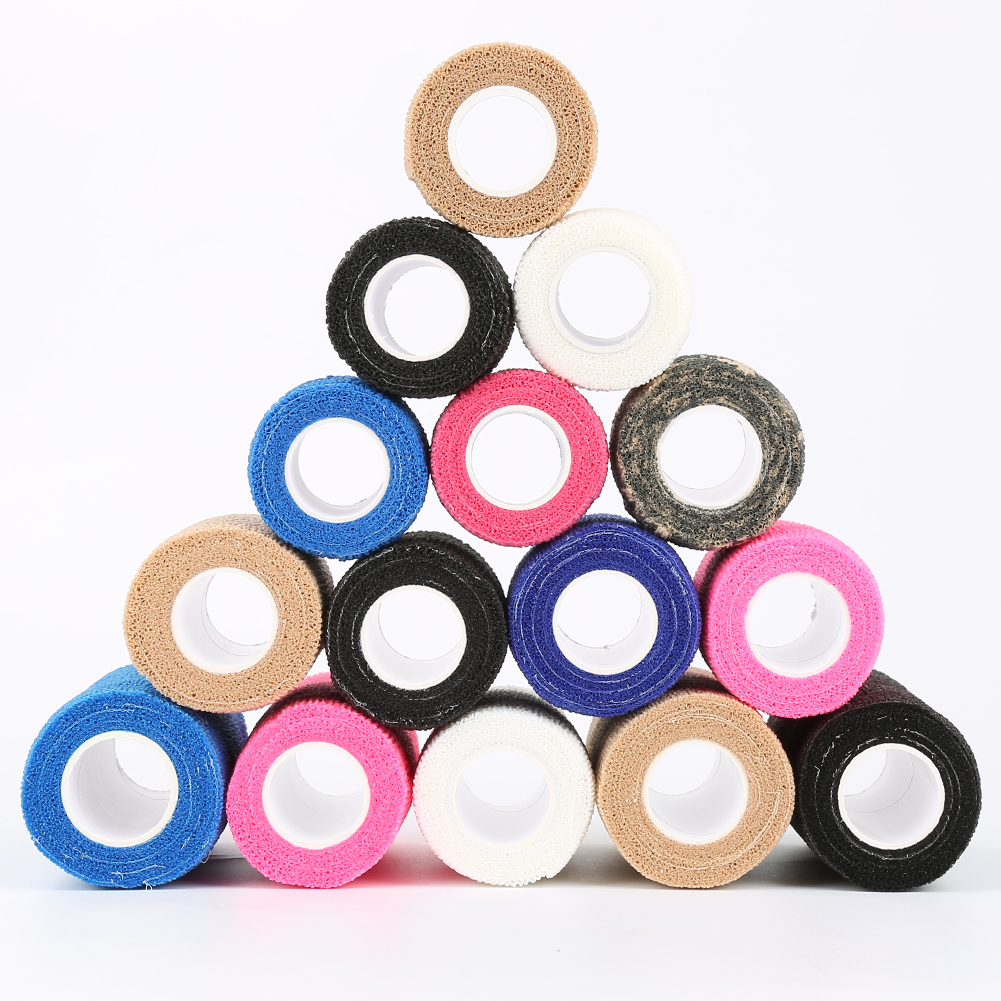 10pcs/lot 2.5cm*4.5m Self-adhesive Elastic Bandage First Aid Medical Health Care Treatment Gauze Tape Dropshipping