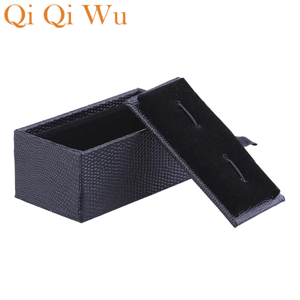 Abotoaduras e gravata clipe caixa de presente caixas pretas em forma de coração caixa de papel pulseira ou pulseira presentes caixa