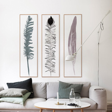 Long feather Modern style Wall pictures for living room Canvas wall art Room decoration No Frame