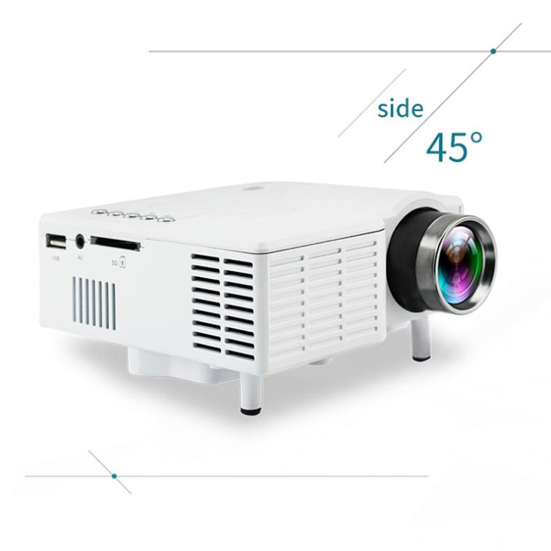 UC28 Universal 400 Lumens HD 400Lumens Multimedia LED Home Projector Support 60 Inch Large Screen Projection