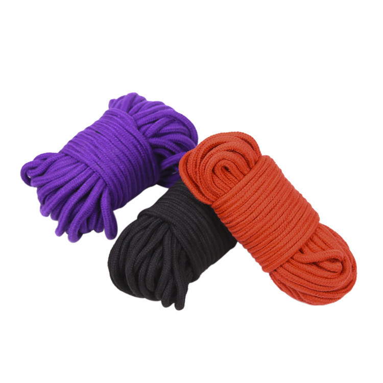 Black Red 20 M Long Thick Cotton Fetish Sex Restraint Bondage Rope Slave Body Harness BDSM Sex Products Sex Toys For Adult Game bdsm red sex leather bondage male chest harness fetish restraint straps belts fetish porno sex games adult products toys for men