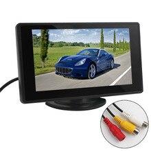 4.3 дюймов TFT ЖК-монитора Парковка заднего вида монитор 2 видео вход для камера заднего вида DVD