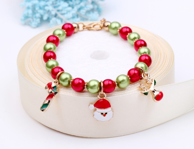 New fashion christmas gift charm for women silver santa claus bracelet high quality pulseras mujer jewelry christmas Wholesale