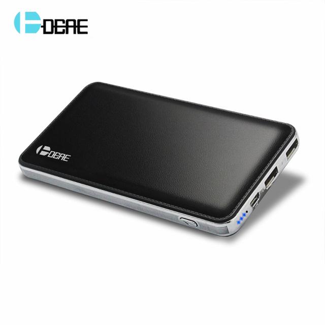 DCAE ultra-delgada Batería Del Li-polímero Banco de la Energía 12000 mah Dual USB Batería Externa Cargador Portátil para todos los teléfonos