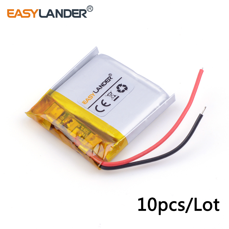10pcs/Lot 3.7v lithium Li ion polymer rechargeable battery <font><b>402525</b></font> 250MAH Bluetooth headset speakers steelmate small toys 042525 image
