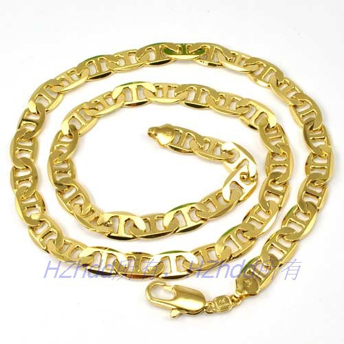 piece necklace anchor thin link mens gold with not real online on filled store product solid money chain mariner