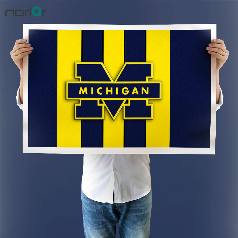 Michigan Wolverines Canvas Prints Painting Wall Art Home DecorSport Poster For Bed Room NO Frame