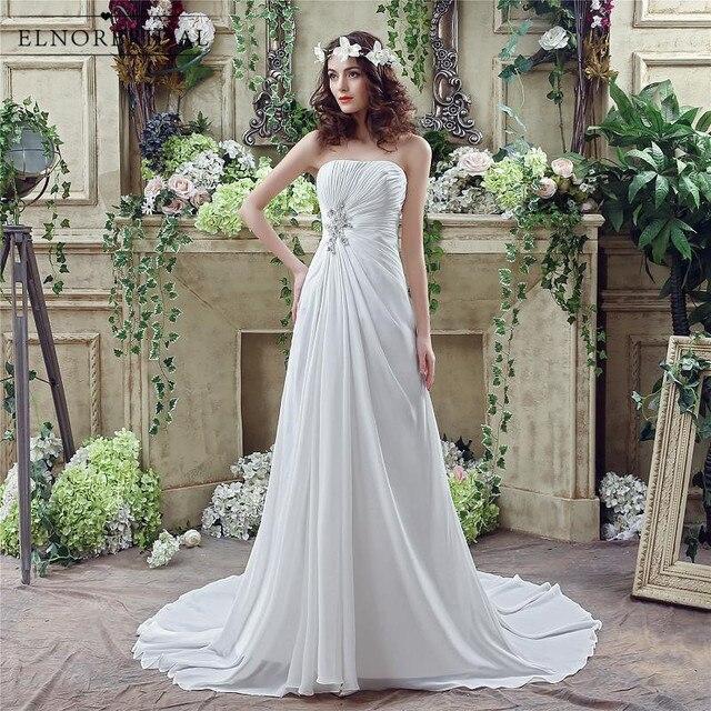 boho do vestido de casamento barato 2019 strapless vestidos de novia