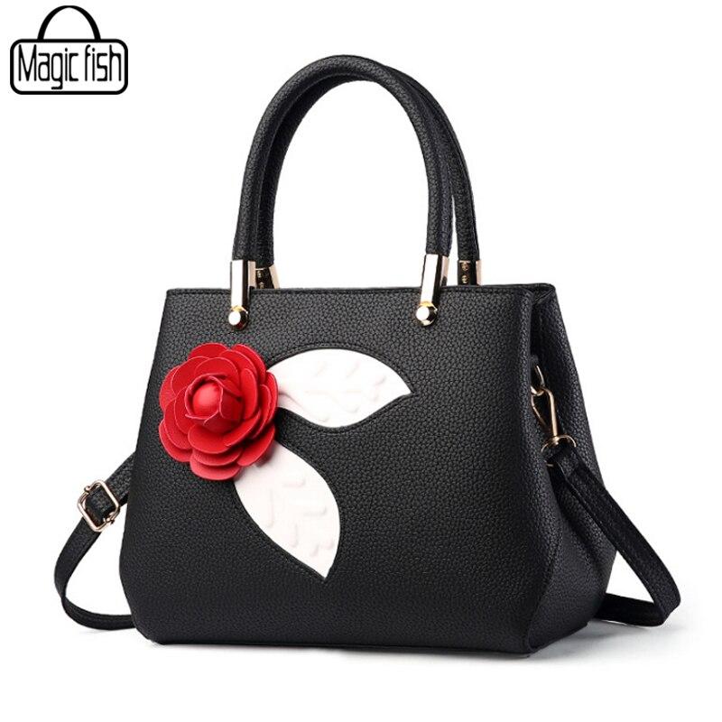 Big Rose Flower Bag Ladies Women's Handbags Luxury Women Bag Famous Brand Vintage Women Bag Female Tote Bolsa Feminina C2139/l